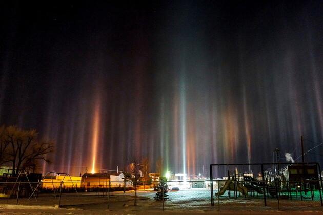 Les piliers de lumière