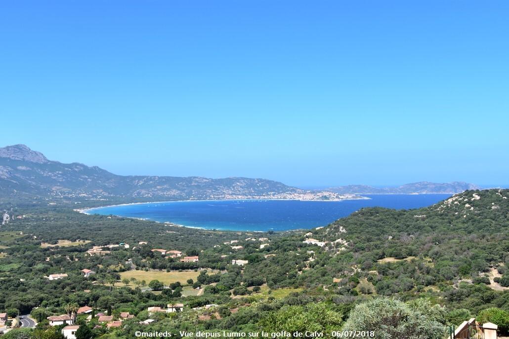 Vue sur le golfe de Calvi depuis Lumio - Corse