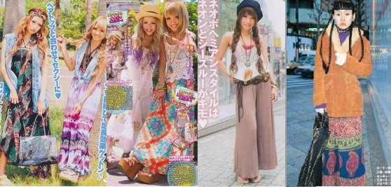 Hippie Chic Mode In Japan