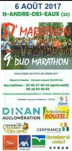 Marathon de Saint André des Eaux - Dimanche 6 août 2017