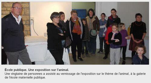 LE TELEGRAMME - 02/02/2013 - Une exposition sur l'animal.