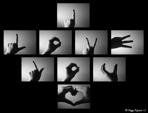 Image love et peace and love