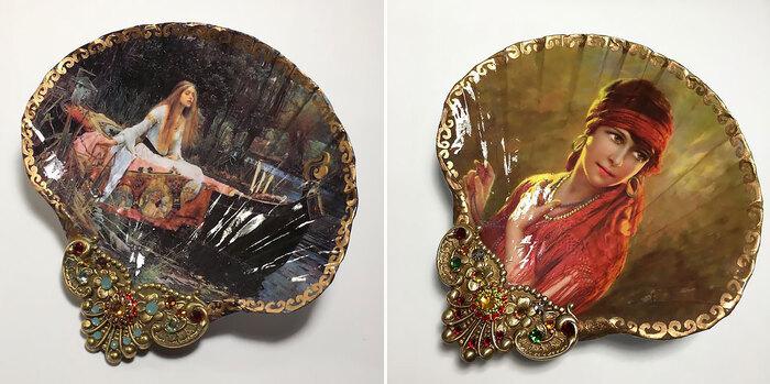 """Cette artiste transforme des coquillages en étonnantes peintures""""Mary Kenyon """""""