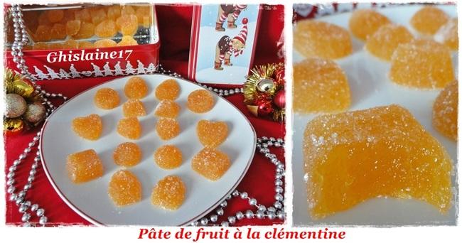 Pâte de fruits à la clémentine