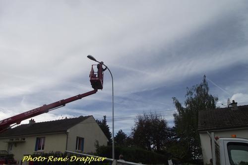 De nouveaux lampadaires à Châtillon sur Seine...