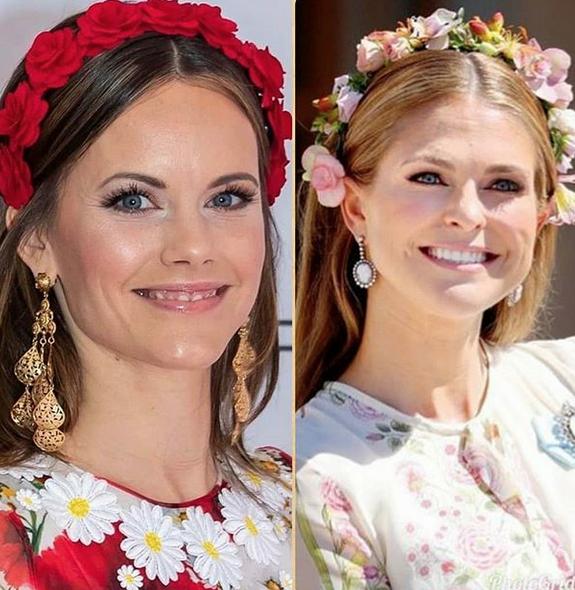 Deux princesses de Syède - Madeleine et Sofia