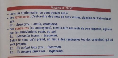 Les synonymes