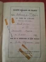 Le mariage d'Etiennette et René, la mariée était en noir