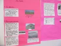 Affiches sur la mine exposés élèves