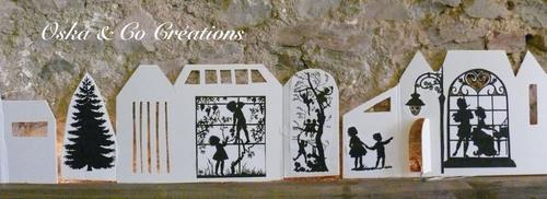 DIY village de Noël géant lumineux  détail2