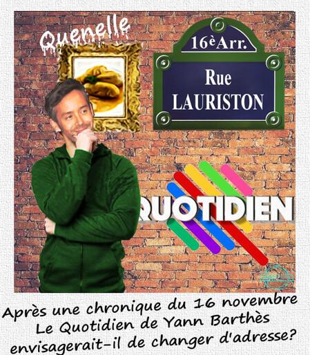 le QuotidieN Yann Barthès
