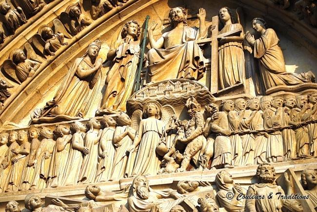 Cathédrale de Paris, autour du porche