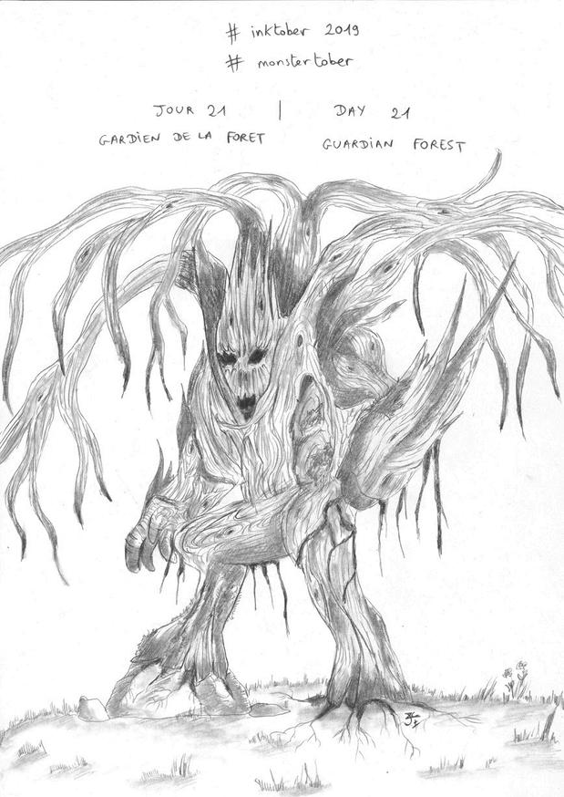 #Inktober Jour 21 Gardien de la forêt