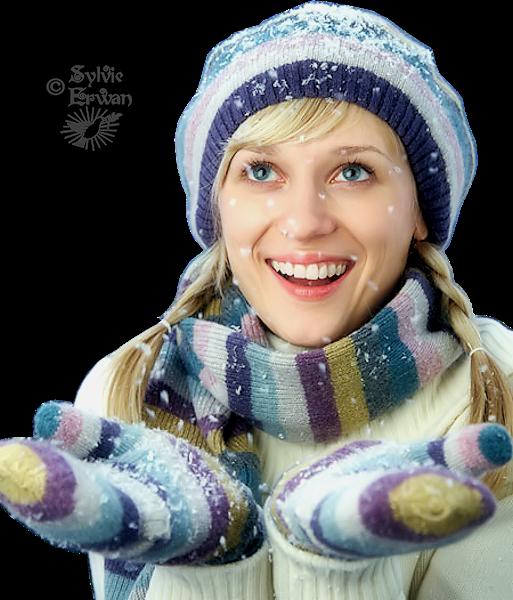 Tubes femmes hiver création 6