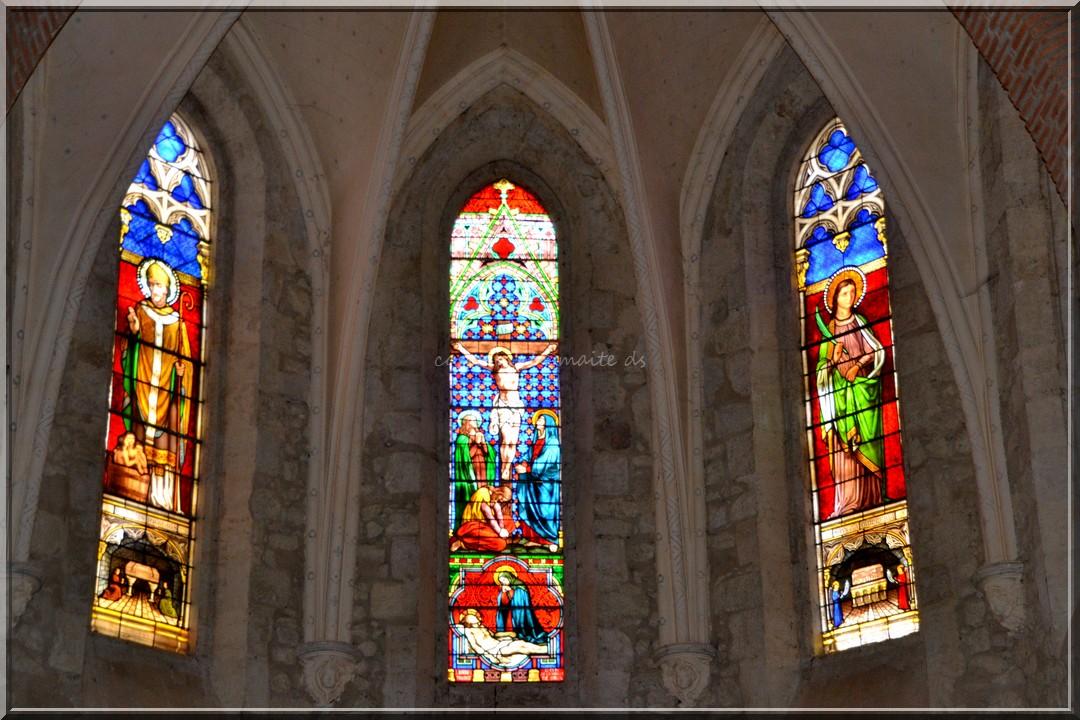 Vitraux église Ste-Quitterie Castelnau Barbarens - Gers (3)