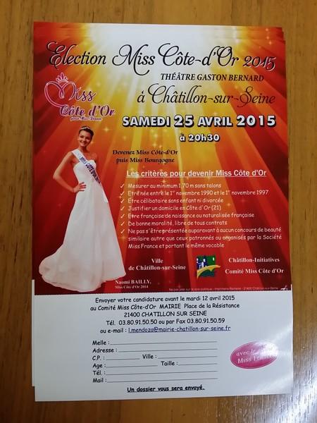 La préparation de l'élection de Miss Côte d'Or 2015 se poursuit...