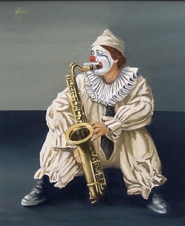 Mon défi pour cette semaine (Le clown & la danseuse)