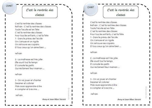 Sehr Chants pour la rentrée des classes - ☆Meroute en clis☆ WD04
