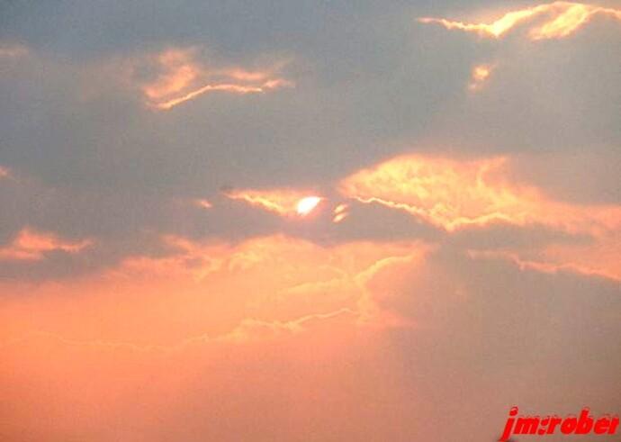 Tout juste magique ce long coucher de soleil bien qu'éphémère