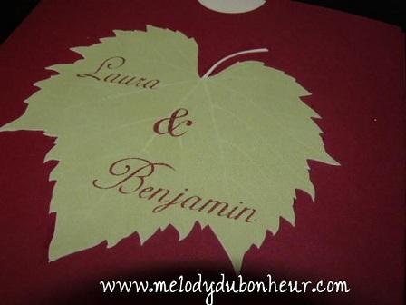 Prototype faire part thème raisin/vin