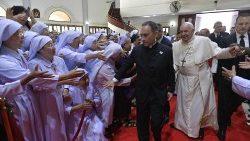 Le Pape François lors de la rencontre avec le clergé thaïlandais