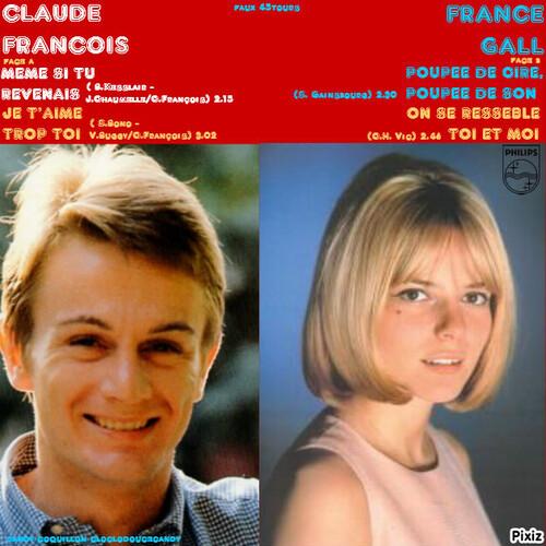 nouveau montage 45tours avec Claude François et France Gall