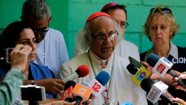 Le cardinal Leopolod Brenes, archevêque de Managua
