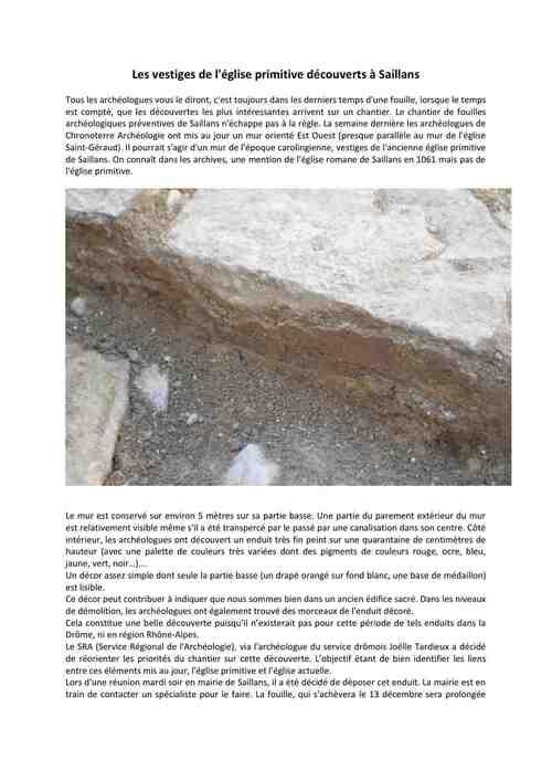 2013-12-18 un mur carolingien mis au_jour_Saillans - Textes et photos © SLC - 2013