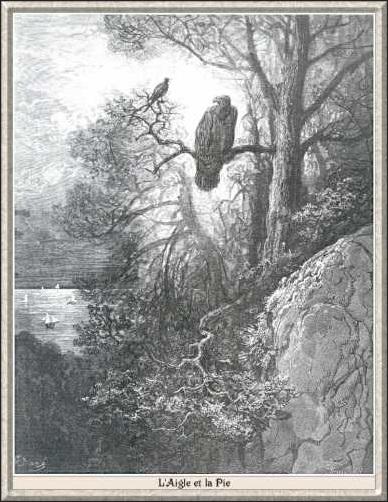 Agache-Jean de La Fontaine, L'Aigle et la Pie