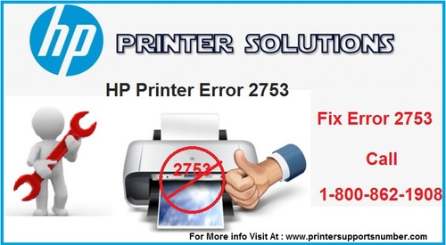 HP Printer Error 2753 – Cause and its Solution