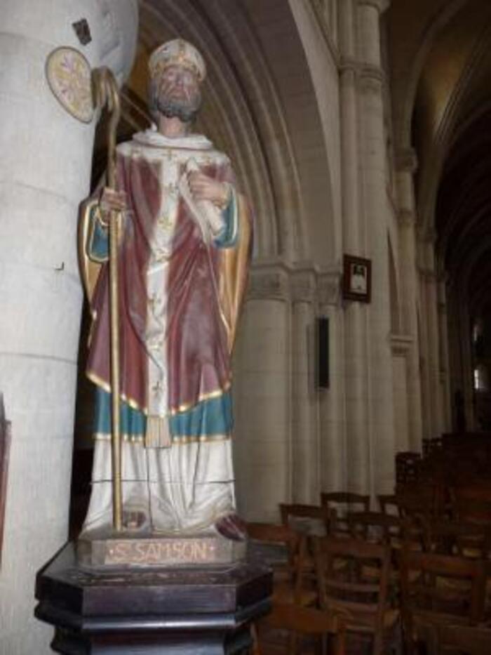 NORMANDIE : mai 2017  OUISTREAM : Eglise Saint Samson