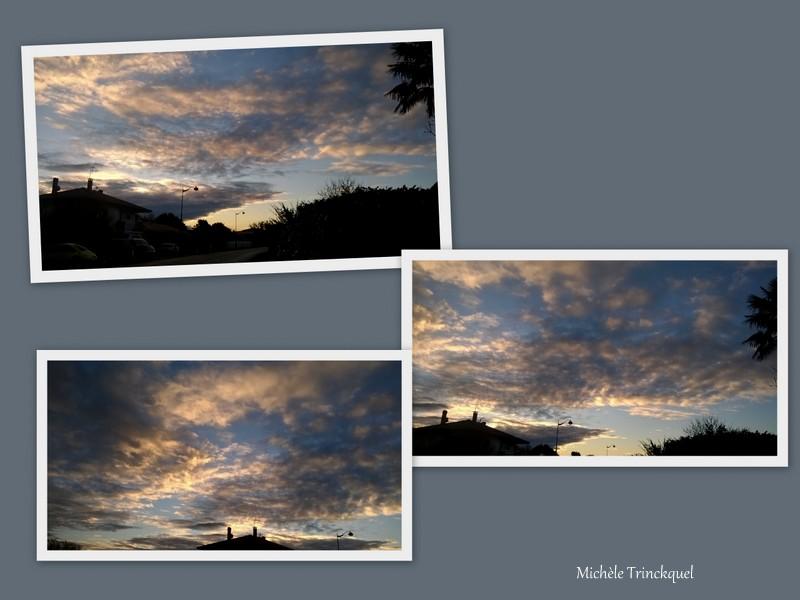 Ciel du matin du 21 décembre... et ciel du soir du 1er janvier....
