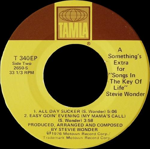 "Stevie Wonder : Album "" Songs In The Key Of Life "" Tamla Records T13-00340 [ US ]"