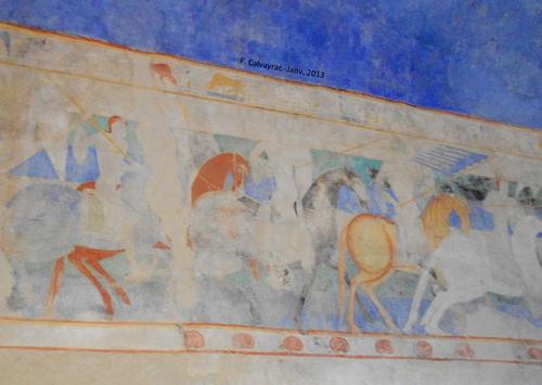 La peinture murale du château comtal de Carcassonne