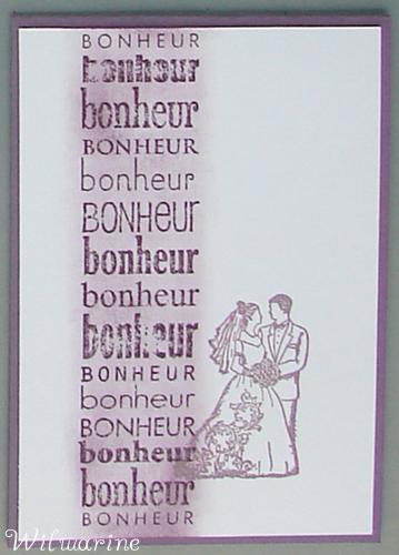 carte mariage mauve et blanc