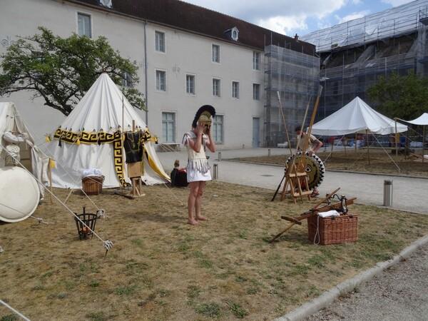 """""""Hoplites en Galatia"""" une superbe animation au Musée du Pays Châtillonnais-Trésor de Vix"""