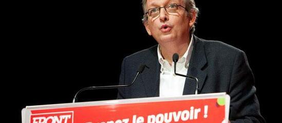 Pierre Laurent, secrétaire national du Parti communiste, à Besançon, le 24 janvier 2012.