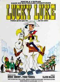 LUCKY LUKE DESSIN ANIME 1971 AFFICHE