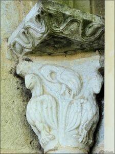 Photo des chapiteaux de l'abside de l'église de St-Paul-lès-Dax