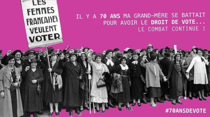 Aujourd'hui près de 50 % de Français (es)  22 millions ne votent pas, volontairement, et pourtant le droit de vote n'a pas été obtenu facilement surtout pour les femmes…