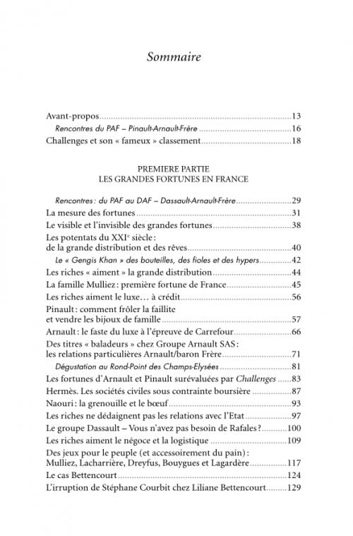 """Les médias et la parution de l'ouvrage sur """"Les grandes fortunes""""."""