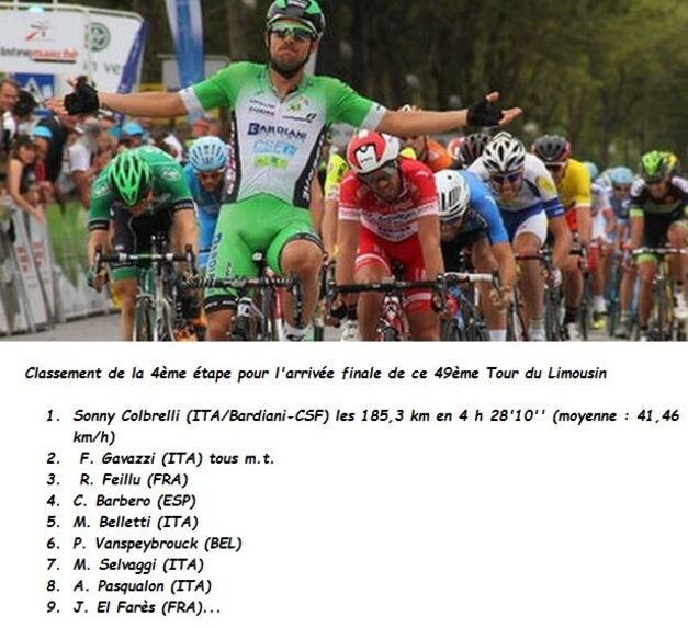 Tour du Limousin: Un américain ROSSKOPF Joseph '' BMC Racing Tean ''.  remporte la 49ème édition pour 1''