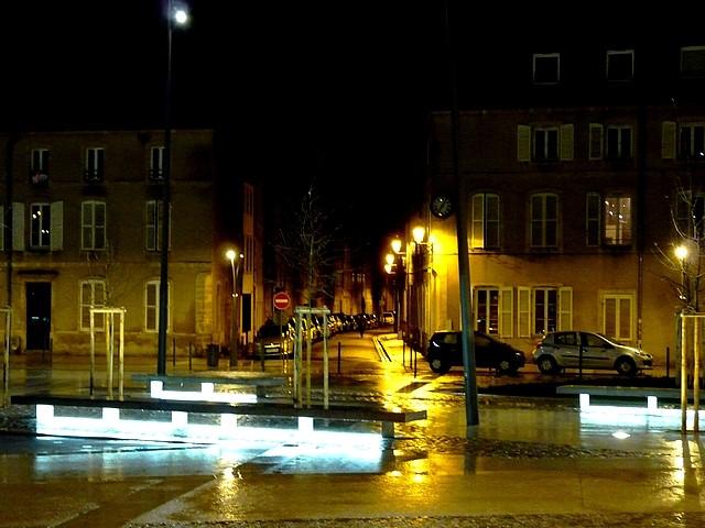 Place Mazelle Metz nuit 9 Marc de Metz 03 02 2013