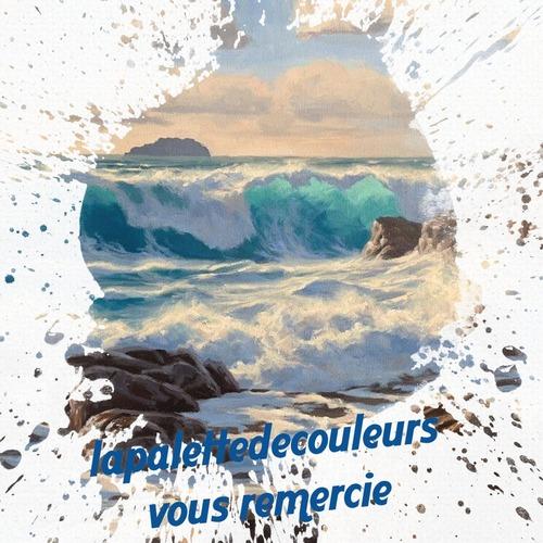 Dessin et peinture - vidéo 3347 : Comment peindre une mer agitée, typiquement bretonne ? - huile ou acrylique.
