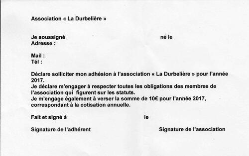Une nouvelle association pour la Durbelière....