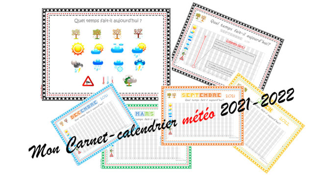 Carnet calendrier 2021/2022