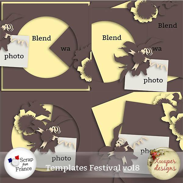 "Pack templates ""festival vol8"" de Xuxper Designs"