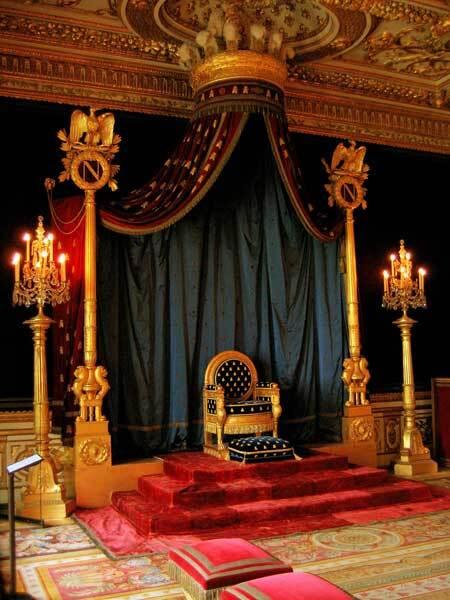 Trône impérial de Napoléon à Fontainebleau