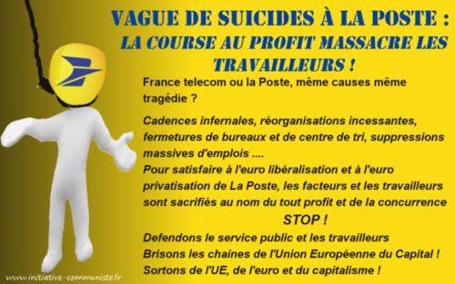 Dans une lettre ouverte, les experts dénoncent un nouveau France Telecom à La Poste ! Les europrivatisations continuent de tuer !