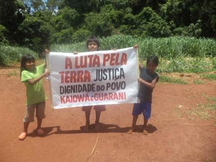 criancas demarcacao guarani kaiowa